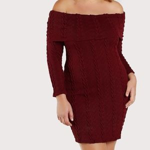 Plus Size Candace Ribbed Knit Bodycon